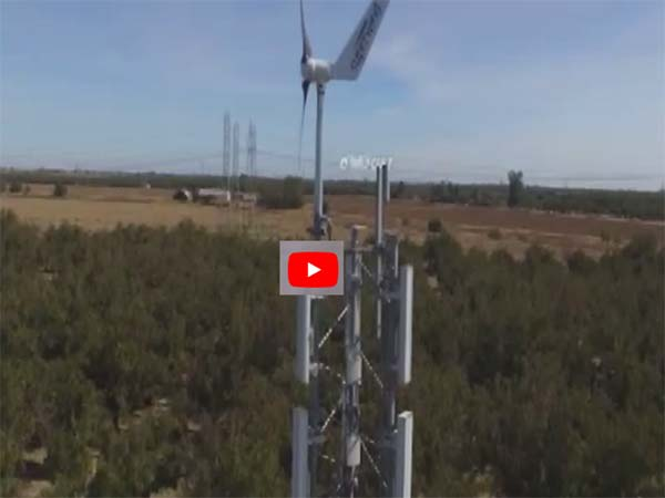 Up On A WISP!  A Drone tour of a Winter's Broadband Off-Grid Tower – Wind & Solar